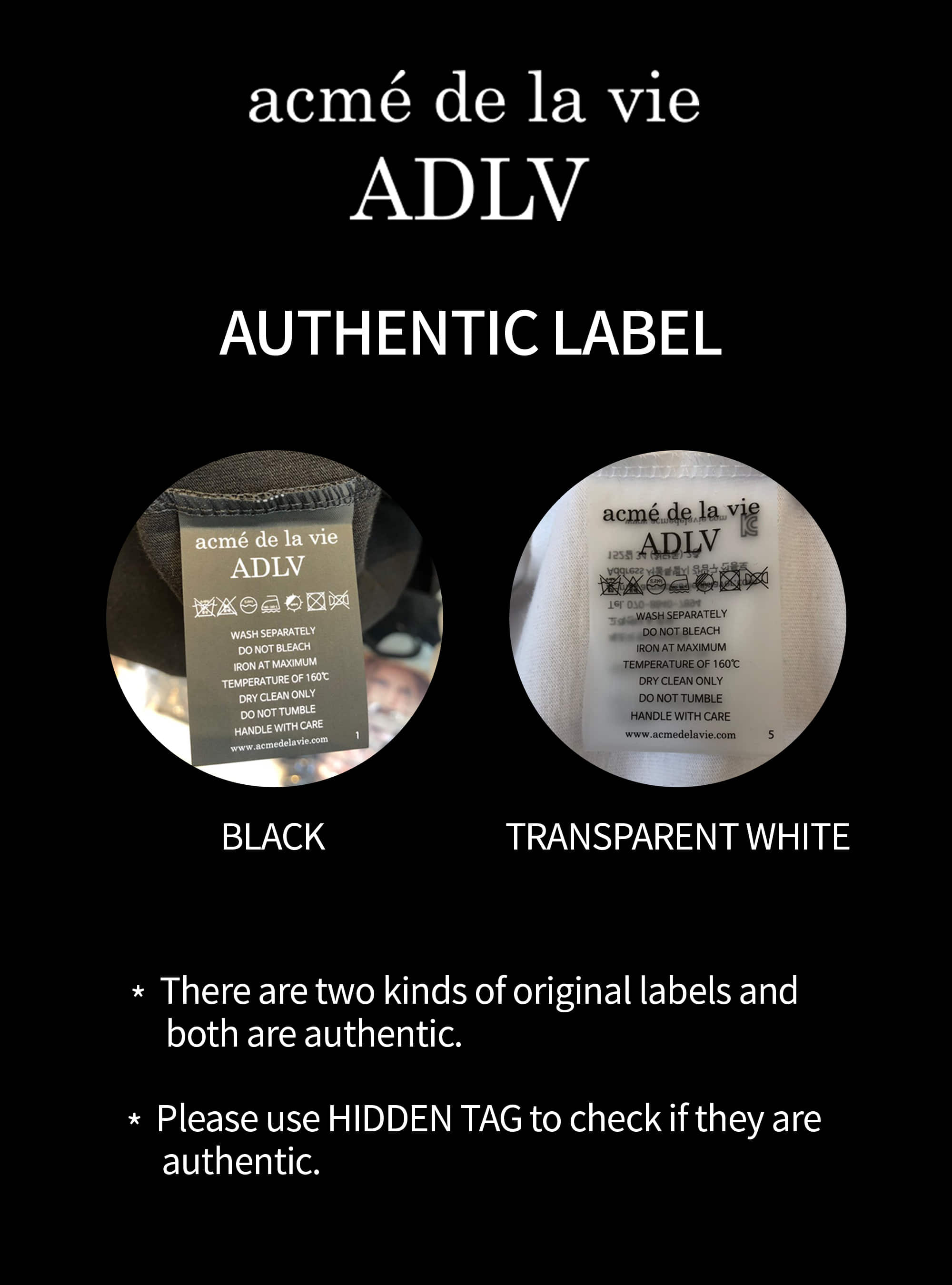 Authentic Label